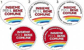 Le cinque proposte di simbolo per il movimento Calcinaia insieme per il bene comune
